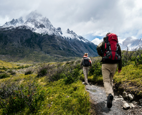 Backpackers in the Mountains