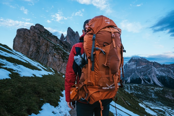 Hiker with Large Backpack