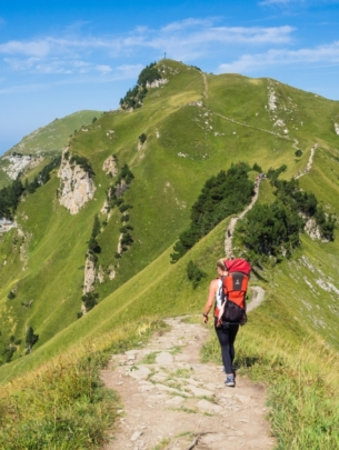 Hiking with a Rucksack